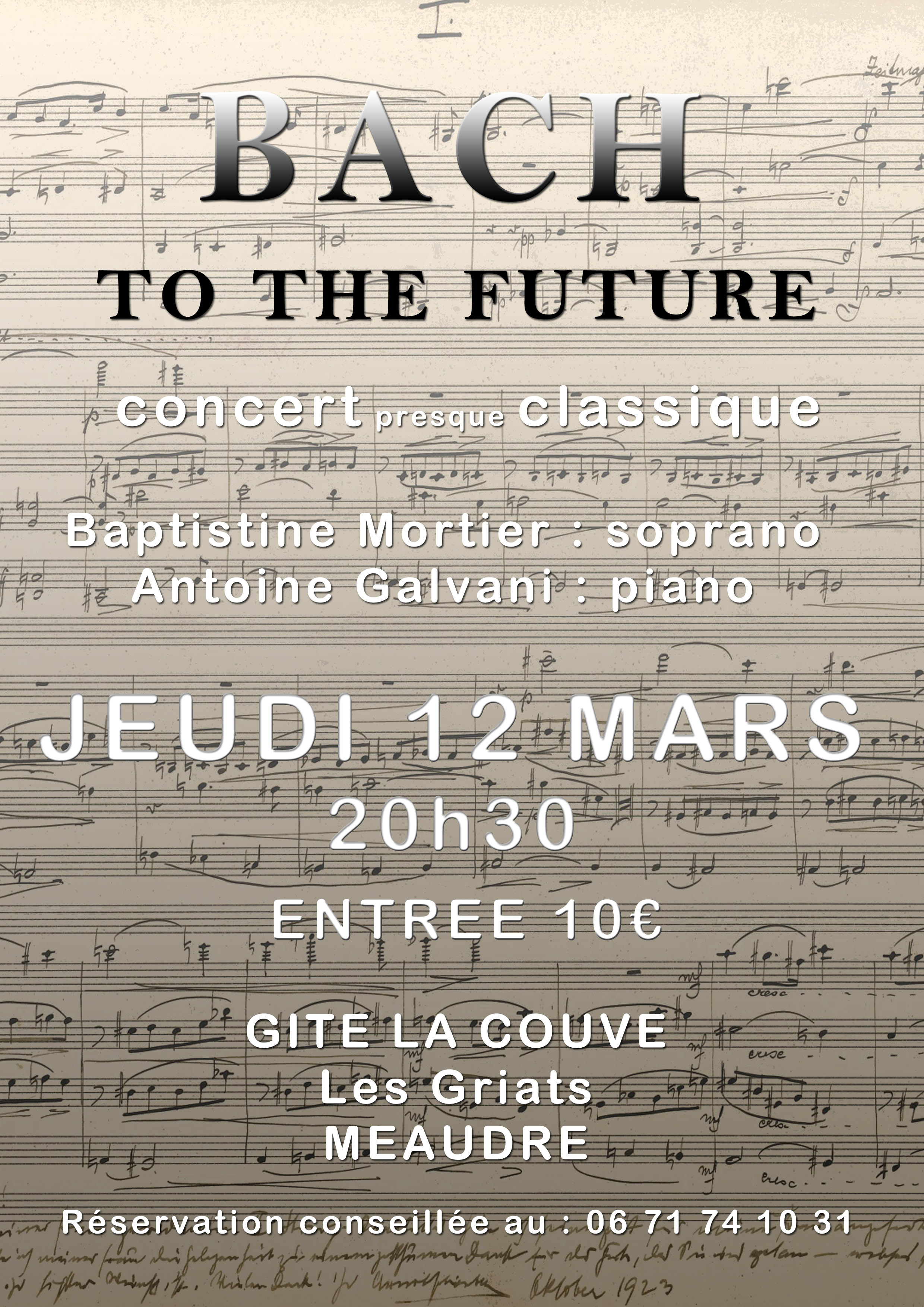 Affiche Concert Bach to the Future