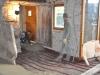 Chappe sable-chaud sur liège et plancher chauffant