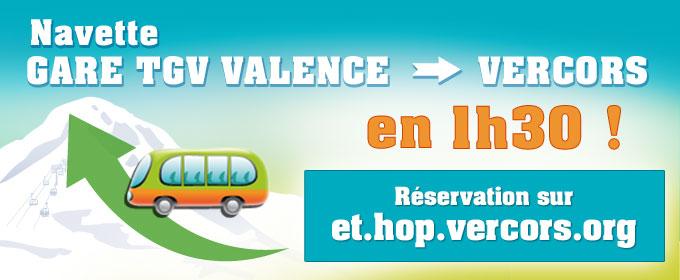 Navette Vercors - Valence TGV