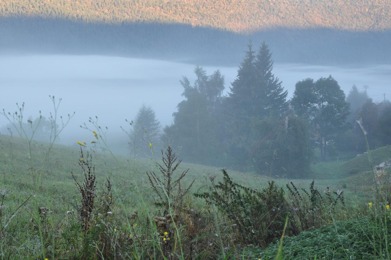 Au petit matin en automne à Méaudre