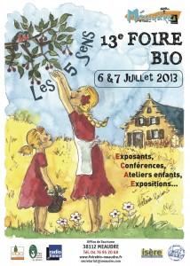 Affiche de la Foire Bio 2013 de Méaudre