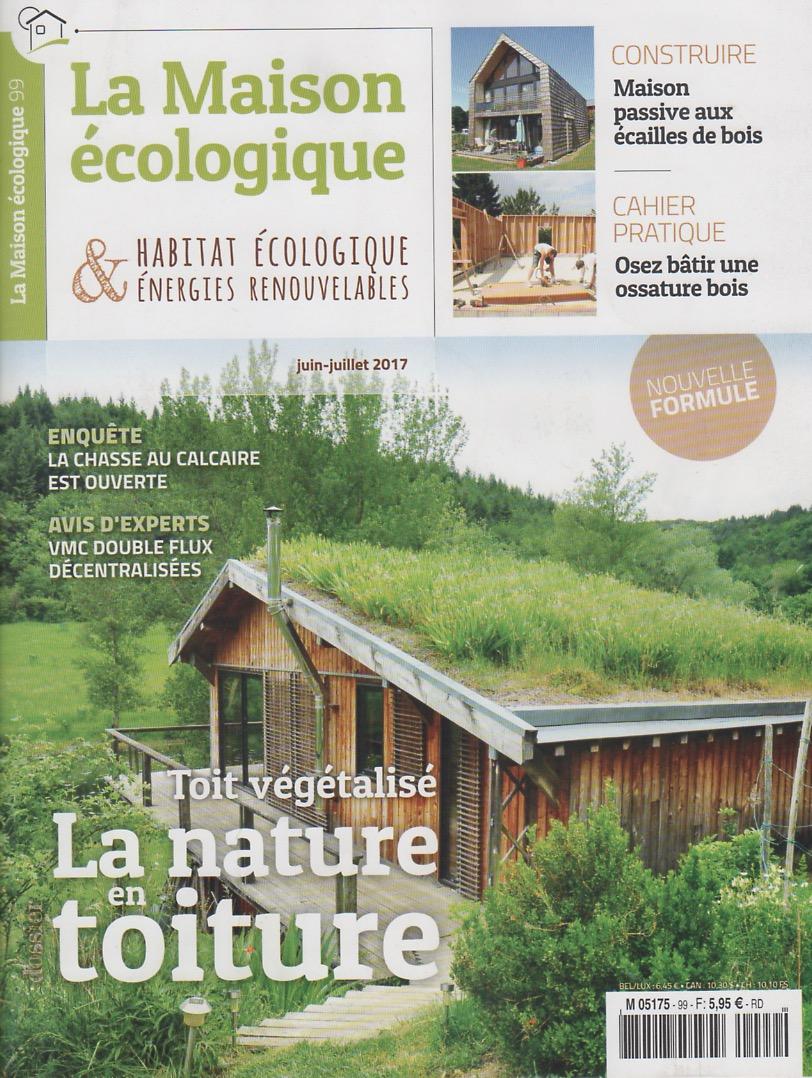 Couverture revue La Maison Ecologique