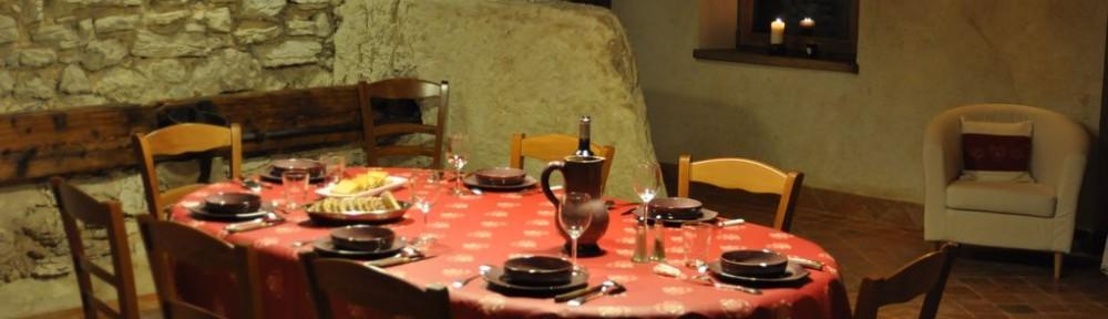 Table gourmande du gîte La Couve