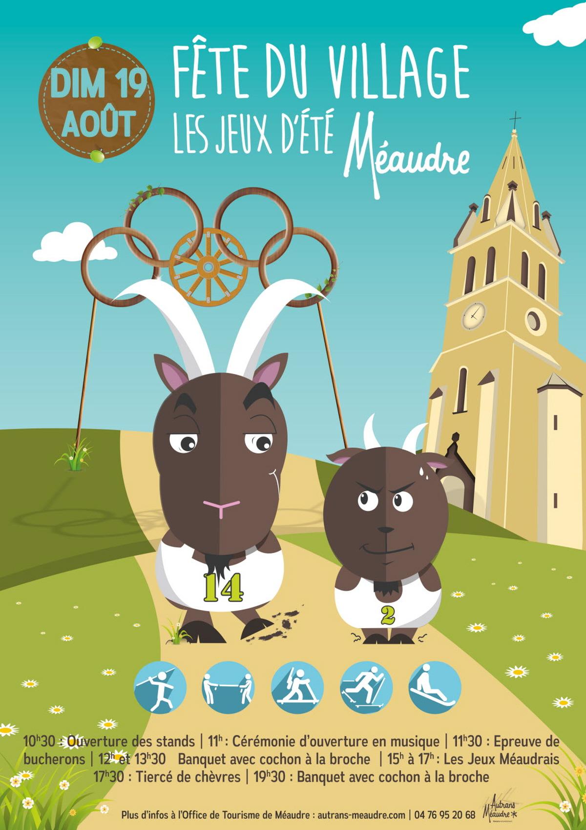 Affiche fête Village méaudre 2018